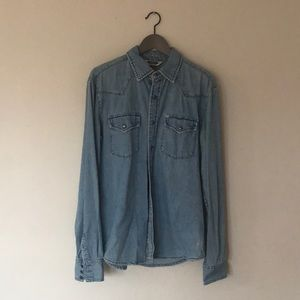Men's Urban Outfitters Denim button up